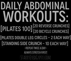 Daily Ab Workouts For That Bikini Body - starryeyedgypsy.com