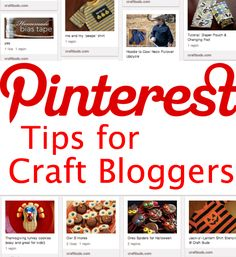 Pinterest Tips for Craft Bloggers