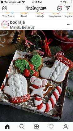 Great Gift Cookie Ideas for a Happy New Year's Eve - DİY Creative Cooking Christmas Cookies Gift, Christmas Biscuits, Christmas Sweets, Christmas Cooking, Noel Christmas, Christmas Goodies, Iced Cookies, Cupcake Cookies, Cupcakes