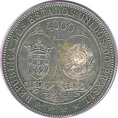 moeda Brasil, 4000 reis,  1900