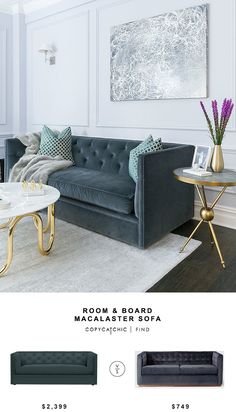 Room & Board Macalster Sofa for $2399 vs West Elm Rochester Sofa for $749 copycatchic luxe living for less budget home decor and design look for less http://www.copycatchic.com/2017/01/room-board-macalster-sofa.html?utm_campaign=coschedule&utm_source=pinterest&utm_medium=Copy%20Cat%20Chic&utm_content=Room%20and%20Board%20Macalster%20Sofa