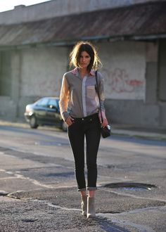 Color blocked blouse