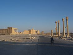 Colonnaded Axis at Palmyra, Syria.