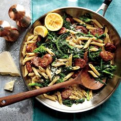 Chicken Sausage and Broccoli Rabe Penne | MyRecipes.com