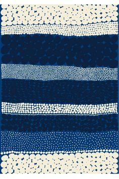 Jurmo HW cotton fabric by Marimekko. I did not know that Marimekko was still around. Love this fabric. Motifs Textiles, Textile Prints, Textile Patterns, Textile Art, Surface Pattern Design, Pattern Art, Stripe Pattern, Geometric Patterns, Graphic Patterns