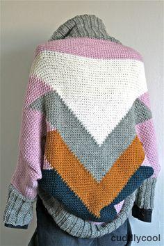 Stoer gehaakt vest. Tunisch  haken. Tunisian crochet cardigan free pattern. Gratis patroon.