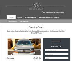 Responsive website design for livery / limo service CountryCoach.net