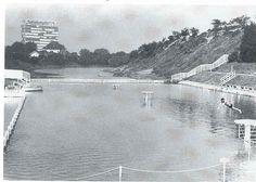 Antwerpen-Kiel - Vestingswater aan de Wezenberg zwemdok Niagara Falls, World, Travel, Outdoor, 1960s, Van, Google, Kiel, Nostalgia