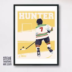 Create a custom sport poster for your little star player. Steve Thomas, Little Star, Total Body, Left Handed, Hockey, Illustration Art, Sports Posters, Stupid Stuff, Moldings