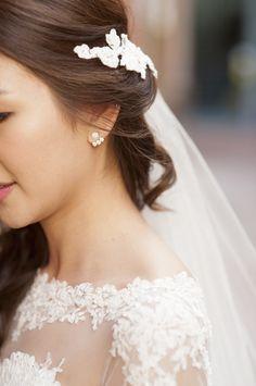 Chic bridal jacket earrings: http://www.stylemepretty.com/australia-weddings/western-australia-au/perth/2016/05/31/get-lost-in-a-world-of-romantic-luxury-with-this-aussie-wedding/ | Photography: DeRay & Simcoe - http://www.deraysimcoe.com.au/