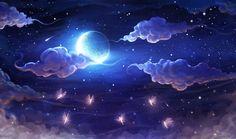 Imagem de moon, clouds, and sky