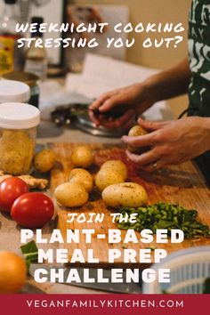 Tired of stressful weeknight cooking disasters? If you want to eat whole foods plant-based dinners most nights, without spending an hour at the stove, you need to get organized. Join the Planned and Plant-based and eat better dinners next week. Family Meal Planning, Family Meals, Family Recipes, Vegan Meal Plans, Vegan Meal Prep, Batch Cooking, Healthy Cooking, Whole Food Recipes, Vegan Recipes