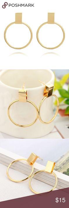 Gold hoops Gold hoops Jewelry Earrings