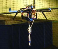 The 3D-printing quadcopter in flight (Photo: Aerial Robotics Lab)