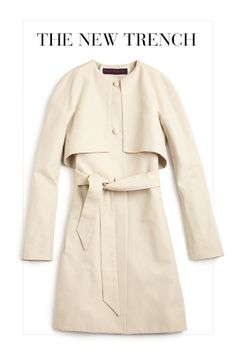 Classic with a twist in this trench.