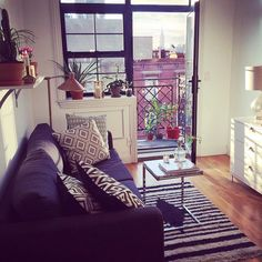 «My sister Viktoria Guzel-Radkevich.dahlberg apartment in New York I just booked a ticket 5 september. Home Decor Bedroom, Living Room Decor, Living Rooms, Living Spaces, Nyc Decor, Cool Apartments, Apartment Living, York Apartment, Minimal Apartment Decor
