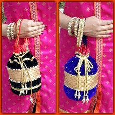 Pretty potli bags.. Such beautiful design..