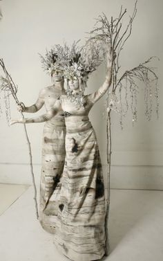 HOLIDAY | SMASH PARTY ENTERTAINMENT | NEW YORK - Living Statue Winter Birch Trees - http://www.smashpartyentertainment.com/holiday/
