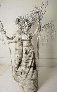 HOLIDAY | SMASH PARTY ENTERTAINMENT | NEW YORK - Living Statue Winter Birch Trees - http://www.smashpartyentertainment.com/holiday/