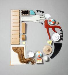 Le studio de design espagnolLo Siento réalise de superbes concepts de typographies créatives pour des clients comme Wired,en utilisant des matériaux auss