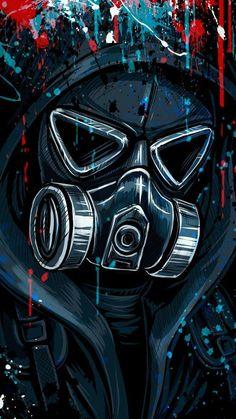 Graffiti Street Art Wallpapers y Graffiti Wallpapers para Cel . Gas Mask Art, Masks Art, Gas Masks, Hacker Wallpaper, Marvel Wallpaper, Wallpaper Wallpapers, Boys Wallpaper, Iphone Wallpapers, Game Wallpaper Iphone