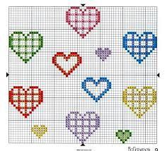 Resultado de imagen para punto de cruz amor patrones