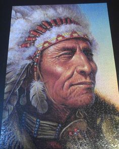 1000 piece native American man puzzle