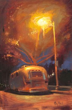 William Wray...light reflection on Airstream. This contemporary artist's work is amazing.