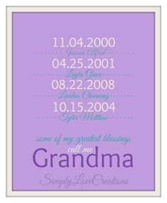 Gifts for Grandparents Gift For Mom by SimplyLoveCreations, $15.00