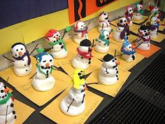 For the Love of Art - model magic snow man (the french one is hilarious)