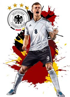 National Football Teams, Football Art, World Football, Soccer Drawing, Ronaldo Real Madrid, Ronaldo Football, Soccer Poster, Toni Kroos, Manchester United Football