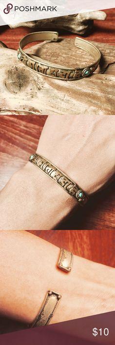 d8101340b85 Om Mani Padme Hum Adjustable Sanskrit Bracelet A gorgeous little bangle  with blue accents &