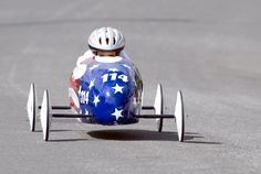 ALL-AMERICAN: Kyle Alvarez, 13 years old, rode down a hill during a soap box race in San Clemente, Calif.