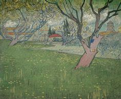 Vincent van Gogh - Orchards in Blossom, 1889 at Van Gogh Museum Amsterdam Netherlands  (Museum catalog)