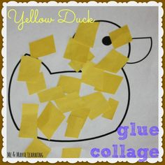 """Language and Communication Development LC13 Read the story """"Brown Bear Brown Bear"""" and then this project goes along with the story. Also use the repetitive """"pat pat"""" motion and words when gluing down the yellow paper."""