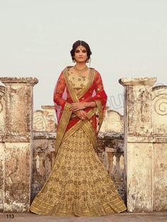 Designer Lehenga Choli#Gold & Red#Indian Wear#Desi Fashion #Natasha Couture #Indian Ethnic Wear #Bridal Wear #Wedding Wear