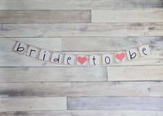Bride To Be Banner Bridal Shower Decorations by WeddingBannerLove