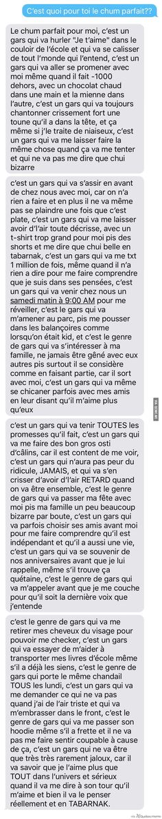 2 Filles se demandent c'est quoi le Chum Parfait – Québec Meme + Sad Love, Cute Love, Couple Texts, Messages For Him, My Diary, French Quotes, Some Quotes, Love Words, In My Feelings