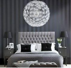 Wandgestaltung Schwarz Weiß Schlafzimmer Einrichten Weiss Schwarz ... Schlafzimmer Ideen Schwarz Wei