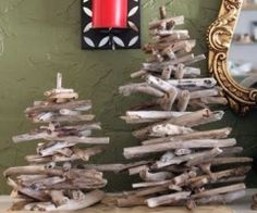 Here are some great ideas for using found pieces of driftwood to make one-of-a-kind Christmas trees.  I'm also harvesting seasoned palm fronds for use if driftwood is in short supply.