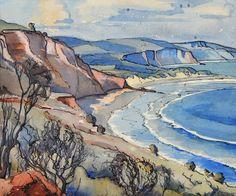 EVELINE SYME (1888-1961) Coastal Landscape watercolour