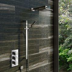 Cubik Thermostatic Triple Valve Complete Shower Set