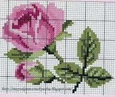 Resultado de imagem para flores em ponto cruz
