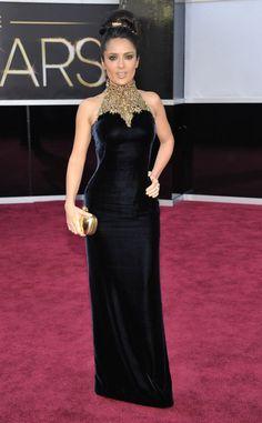 Salma Hayek Alfombra roja de los Oscar 2013
