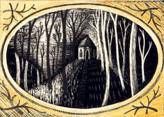 'Fisher's Hall, Hackfall' by Ed Kluz from the 'Northern Arcadia' series for Hornseys' Gallery Illustration Art, Illustrations, Lino Prints, Historical Architecture, Romanticism, Etchings, Light In The Dark, Yorkshire, Art Photography
