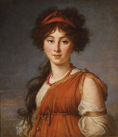 "Élisabeth Louise Vigée Le Brun (French, Paris 1755-1842). Varvara Ivanovna Ladomirskaya, 1800. The Metropolitan Museum of Art, New York. Columbus Museum of Art, Ohio, Museum Purchase, Derby Fund (1963.019) | This work is featured in the ""Vigée Le Brun: Woman Artist in Revolutionary France"" exhibition, on view through May 15, 2016. #VigeeLeBrun"