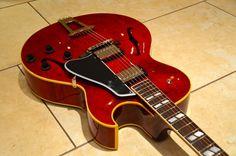 2012 Gibson ES-175 Memphis Custom Shop. Antiqued Faded Cherry Finish.