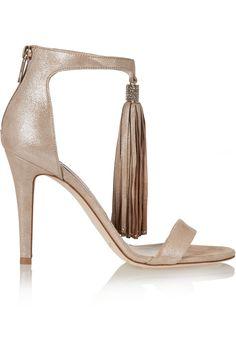 c6d1df703c1 Viola crystal-embellished tasseled suede sandals