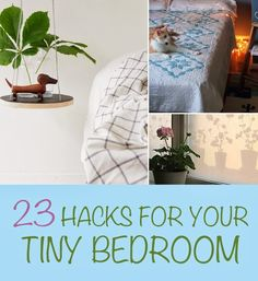 Diy Projects: 23 Hacks For Your Tiny Bedroom