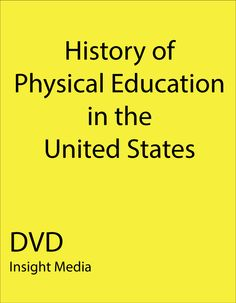 an introduction to the history of physical education in america Learn about the physical activity guidelines for americans and access useful   learn about the council's mission, vision, and history, and meet the staff,.